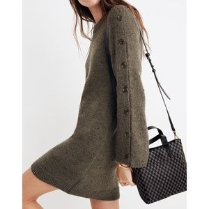 Madewell Donegal Button Sleeve Sweater Dress S M L